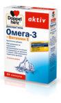 Допелхерц (Doppelherz) Омега-3 с Витамин Е капсули x60